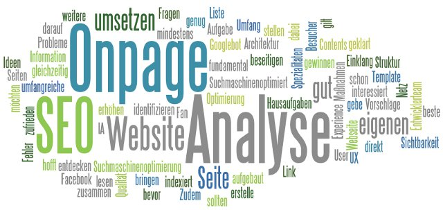 Keywords zur Onpage-Analyse
