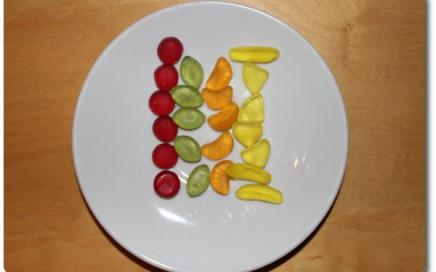 Teller mit siloed Fruchtgummi