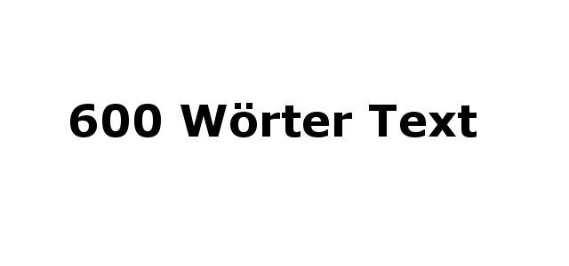 600 Wörter Text