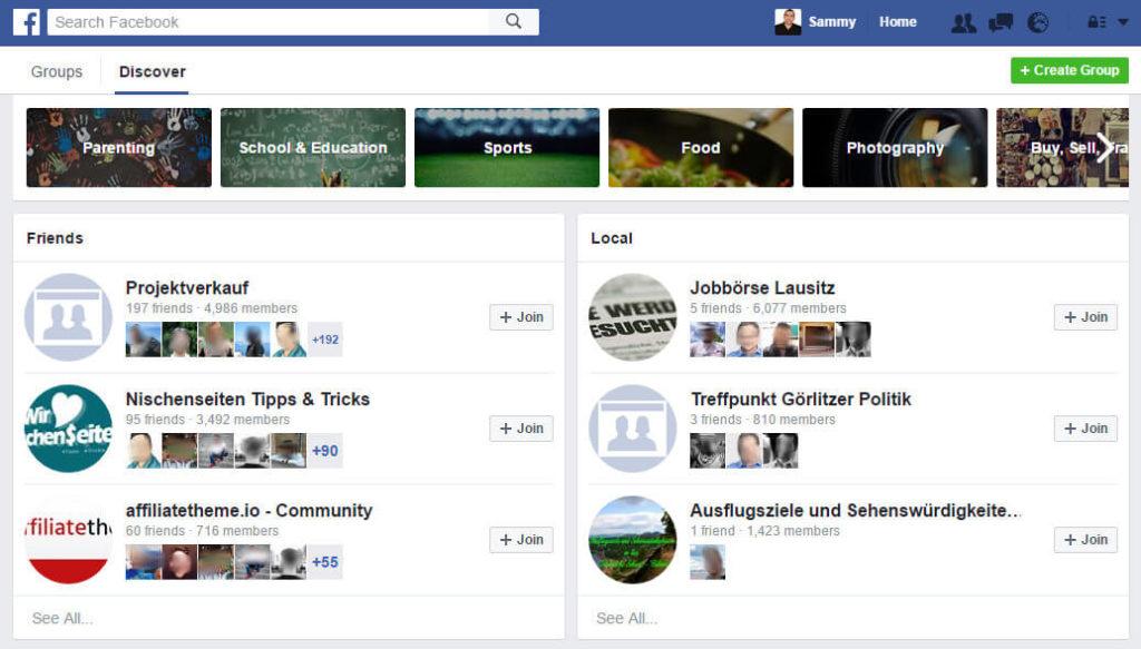 Facebook-Gruppen