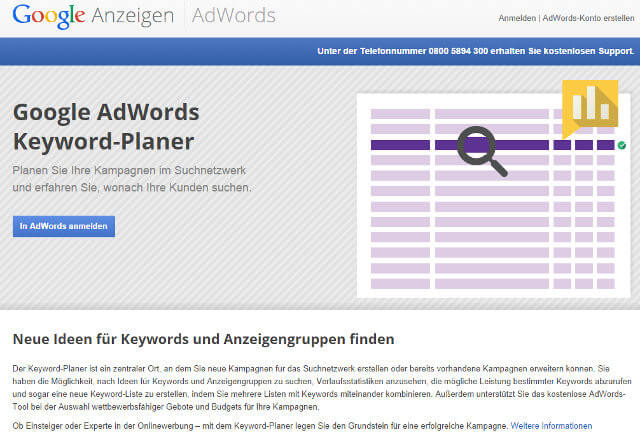 Google Adwords Keyword-Planer