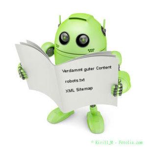 Googlebot analysiert eine Website anhand der Robots.txt, XML-Sitmemap, des Contents und Struktur