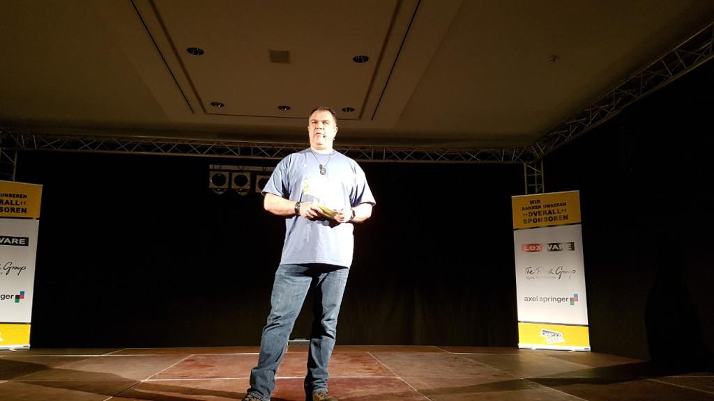 Marco Janck auf der Bühne