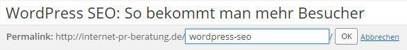URL im WordPress Editor ändern