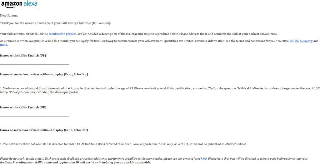 Amazon Alexa E-mail: Klicke auf das Bild zum vergrößern.