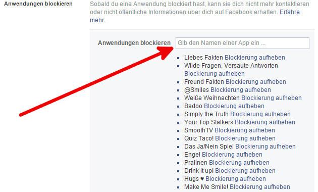 facebook Anwendung blockieren