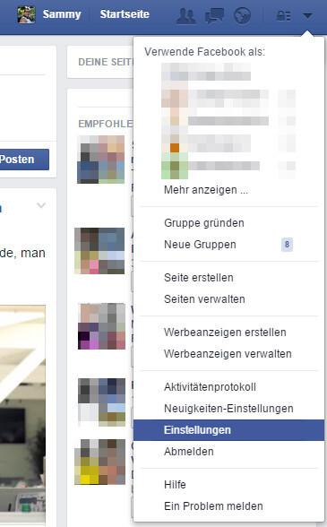 facebook Einstellungen