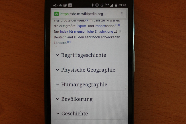 Hidden Text in der mobilen Wikipedia