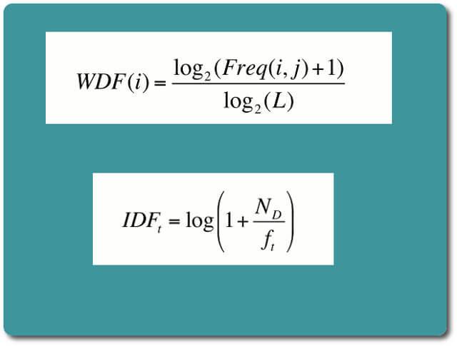 wdf * idf Formeln